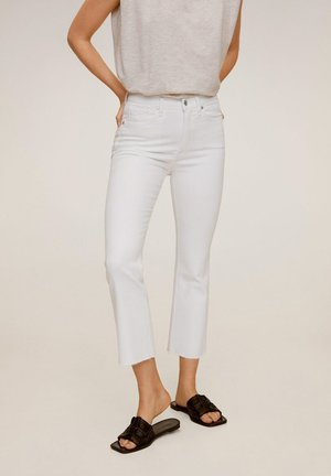 BOOTCROP - Trousers - white