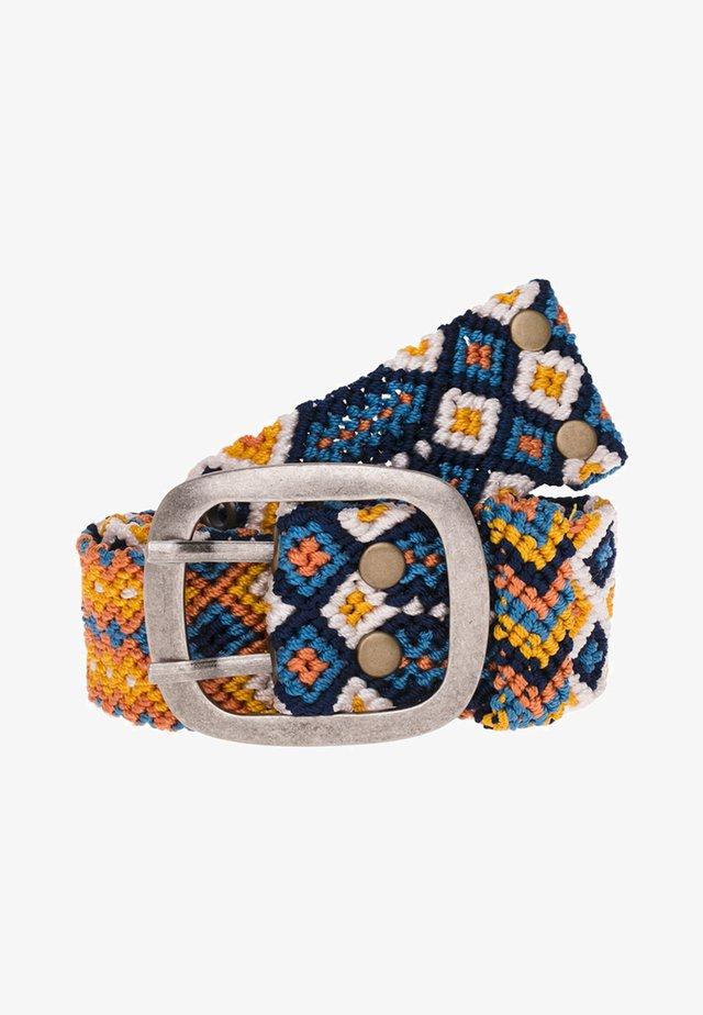 ADRIANA FRESH - Belt - blau/gelb