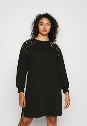 CARENNA SWEAT DRESS - Day dress - black