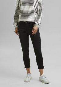 Esprit - MR CAPRI - Trousers - black - 3