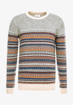 JACQUARD KNIT - Sweter - beige