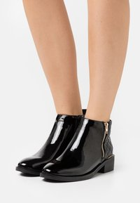 New Look - BRUCIE PAT QUILTED ZIP - Ankle boots - black - 0