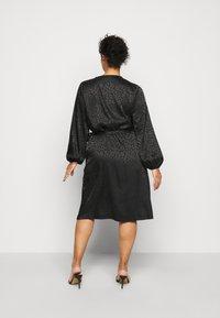 ONLY Carmakoma - CARDAMINA WRAP KNEE DRESS - Day dress - black - 2