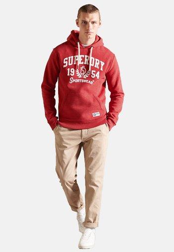 T&F - Hoodie - rouge red marl