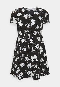 Anna Field Curvy - Day dress - black/white - 4