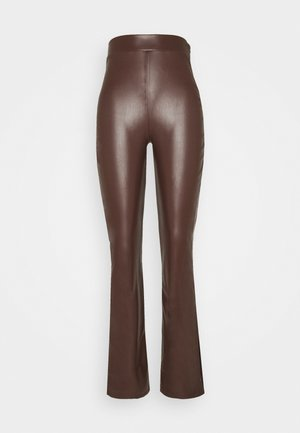 SIDE CUT PANTS - Pantalon classique - brown