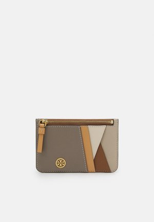 WALKER PATCHWORK TOP-ZIP CARD CASE - Portafoglio - longan