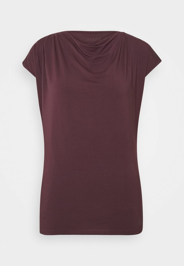 WASSERFALL - Basic T-shirt - bordeaux