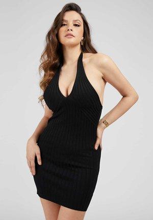 ADDY CROSSED DRESS - Shift dress - schwarz