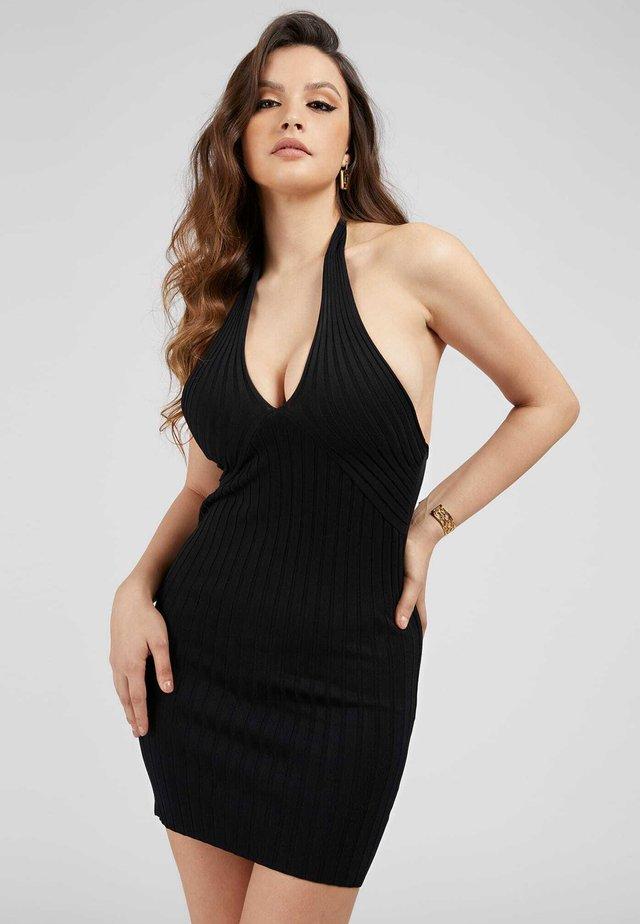 ADDY CROSSED DRESS - Sukienka etui - schwarz