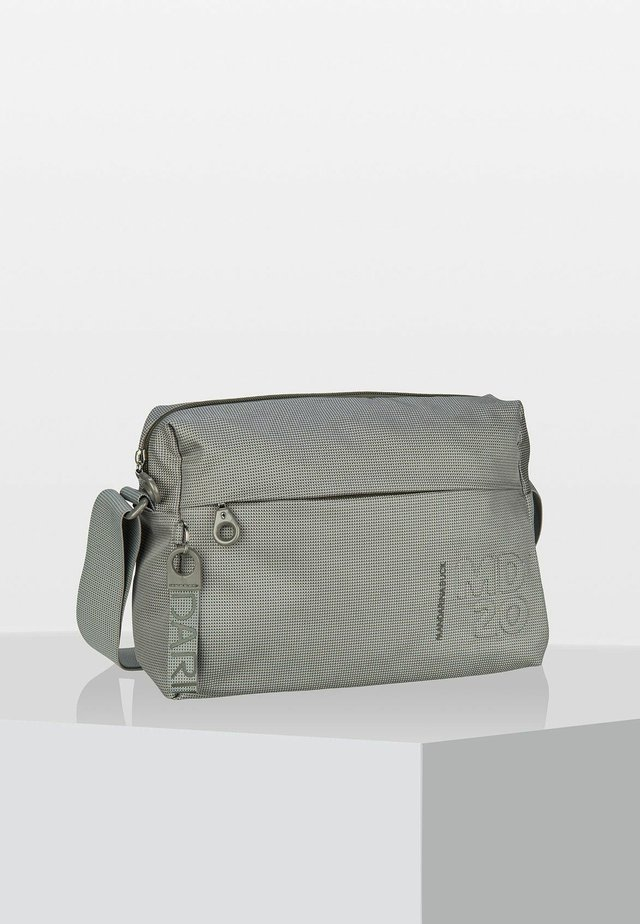 QMTV - Across body bag - mottled light grey
