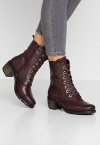 Be Natural - Lace-up ankle boots - bordeaux - 0