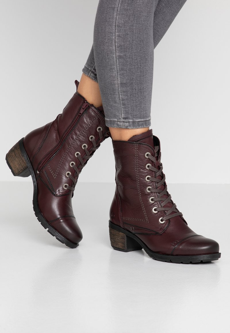 Be Natural - Lace-up ankle boots - bordeaux