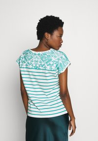 Esprit - STRIPED TEE - Print T-shirt - teal green - 2