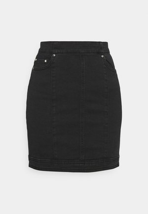 ONLCARMEN MINI - Mini skirt - black denim