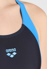 Arena - REN ONE PIECE - Swimsuit - black/pix blue/turquoise - 4