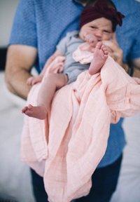 Little Unicorn - Muslin blanket - rosepetal - 4