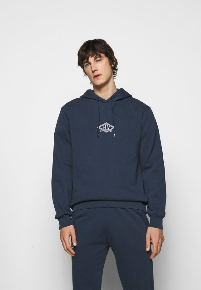 CASUAL HOODIE - Sweater - faded navy/white
