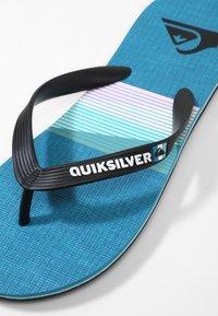 Quiksilver - MOLOKAI SEASONS  - Pool shoes - black/blue/black - 5