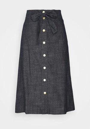 LIGHT WEIGHT - Áčková sukně - denim dark blue