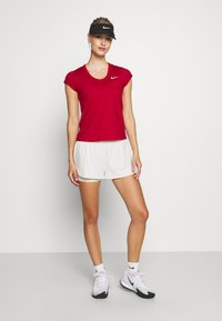 Nike Performance - DRY - Basic T-shirt - gym red/white - 1