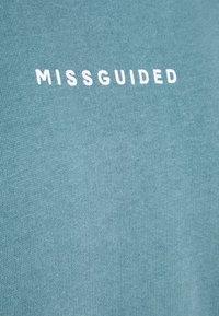 Missguided Tall - CROPPED HOODIE - Sweatshirt - light blue - 2