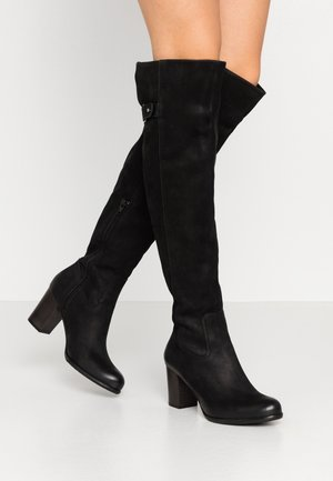 EMORI - Over-the-knee boots - morat black