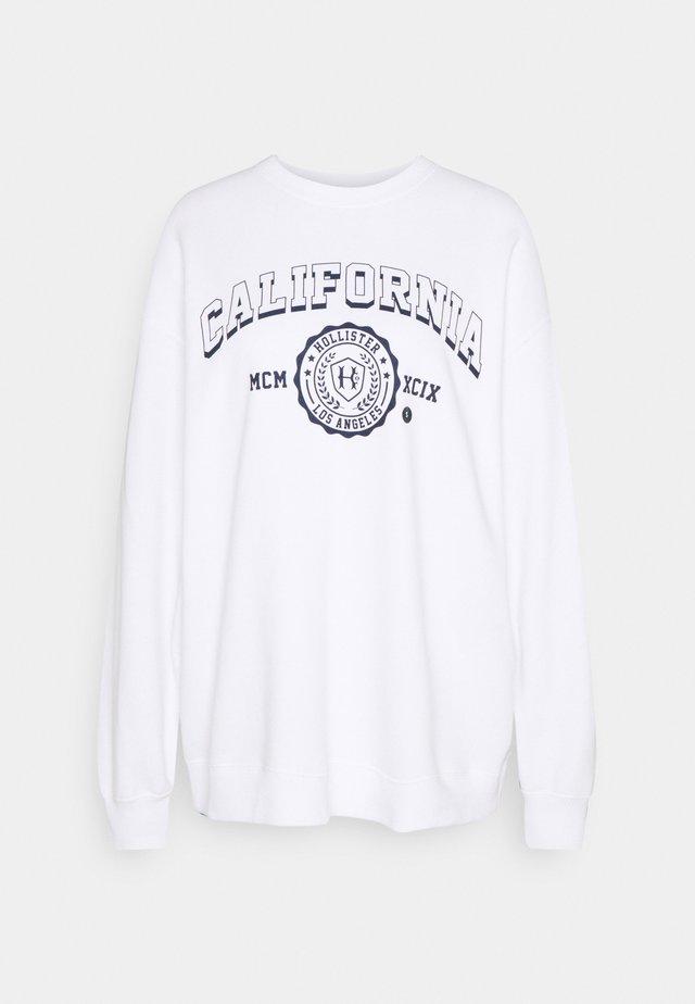 VINTAGE GRAPHIC CREW - Sweatshirt - white