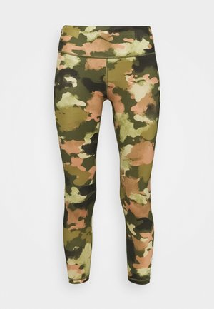 ECLIPSE ZIPPER POCKET PANT - Leggings - olive