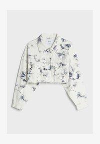 Bershka - CROPPED MIT TIE-DYE-PRINT  - Summer jacket - white - 4