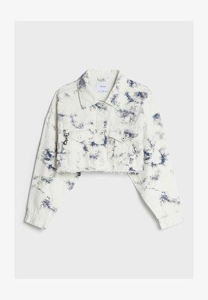 CROPPED MIT TIE-DYE-PRINT  - Summer jacket - white