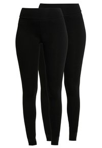 Dorothy Perkins - 2 PACK - Leggings - Trousers - black - 0