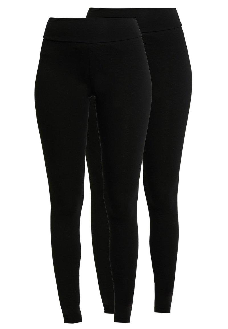 Dorothy Perkins - 2 PACK - Leggings - Trousers - black