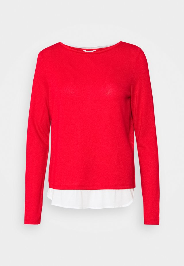 BIMAT BAJO - Stickad tröja - red/coral