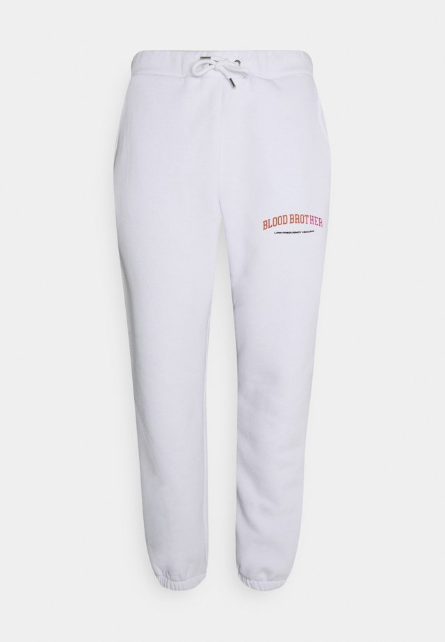 DEE ROAD UNISEX  - Tracksuit bottoms - white