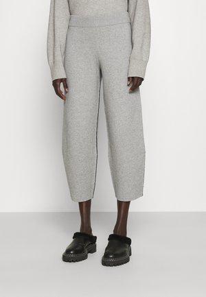 Tracksuit bottoms - grey melange/black