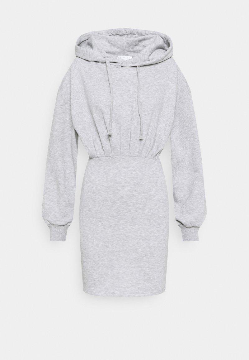 Topshop - SHORT HOODED DRESS - Sukienka letnia - grey