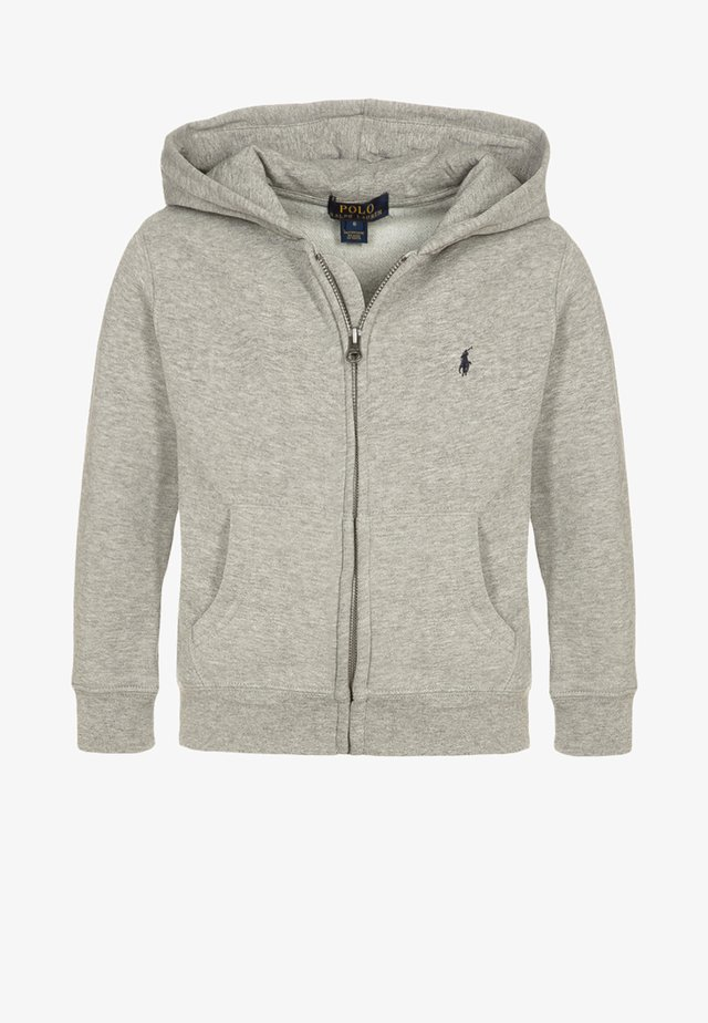 veste en sweat zippée - dark sport heather