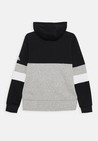 adidas Performance - Bluza z kapturem - black/medium grey heather/white - 1