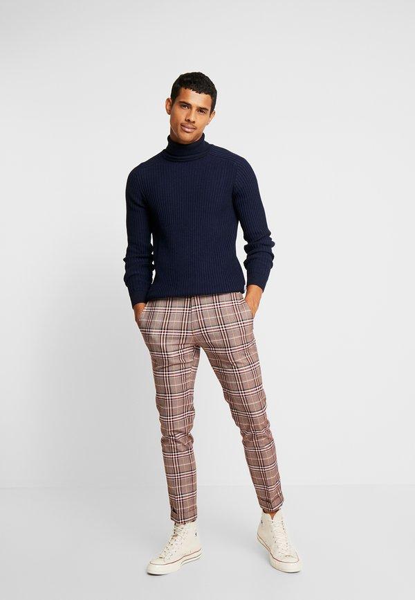 Pier One Sweter - mottled dark blue/granatowy melanż Odzież Męska BIFJ