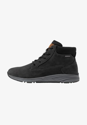 X-HAIL MID LUX WP - Hiking shoes - black/grey