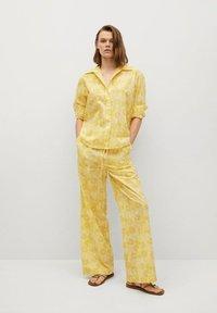 Mango - Trousers - amarillo - 1