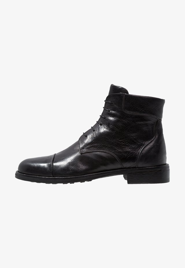 CANYON - Bottines à lacets - black