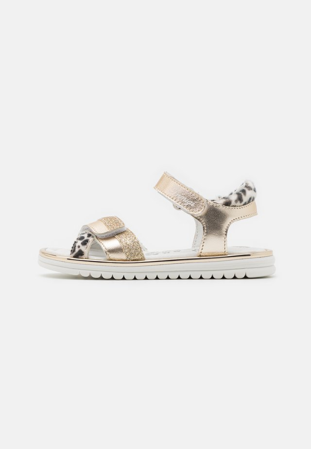 Sandaler - platino/nero