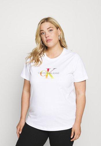 MONOGRAM TEE - Print T-shirt - gradient bright white