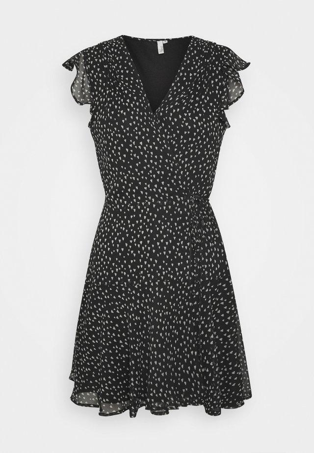COME AROUND DRESS - Korte jurk - black