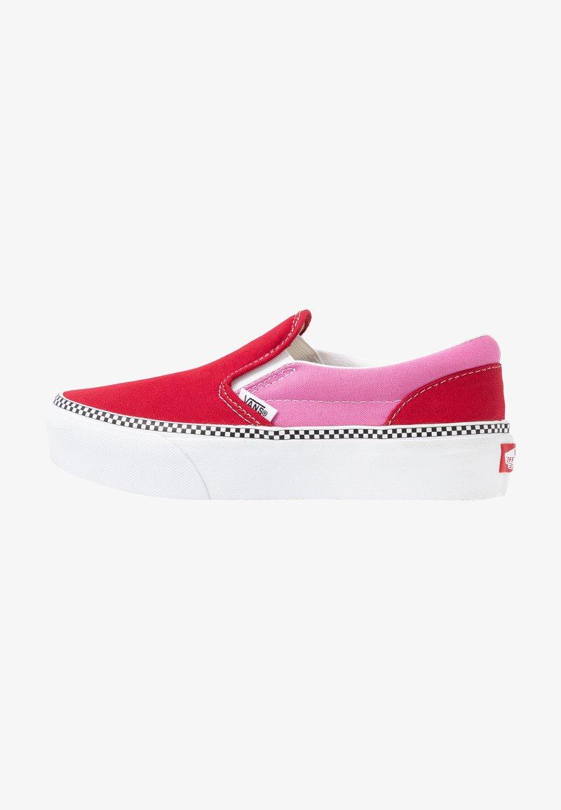 Monetario Tacón Hacer un nombre  Vans CLASSIC SLIP-ON PLATFORM - Slip-ons - chili pepper/fuchsia pink/pink -  Zalando.co.uk