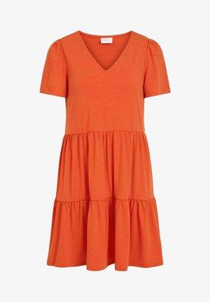 SHORT SLEEVE - Day dress - burnt ochre
