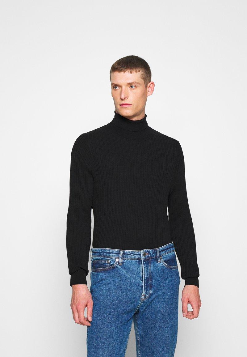 Pier One - Stickad tröja - black