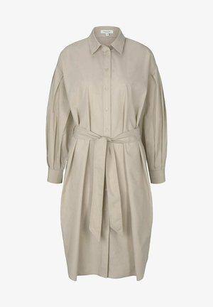 Shirt dress - linen beige